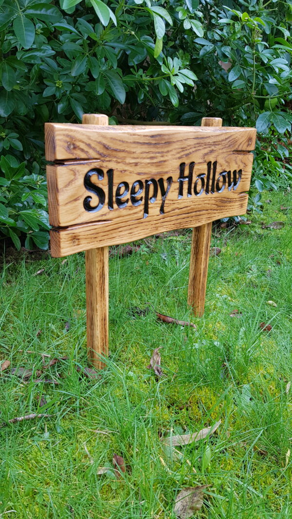 old style oak sign